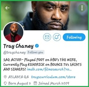 "Tray Chaney From The Hit TV Show ""The Wire"""