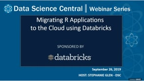 DSC Webinar Series: Migrating R Applications to the Cloud using Databricks