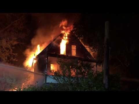 Wilmerding, PA Abandoned House Fire