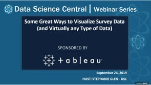 DSC Webinar Series: Some Great Ways to Visualize Survey Data (and Virtually any Type of Data)