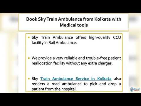 Choose Sky Train Ambulance with Hi tech Medical Support