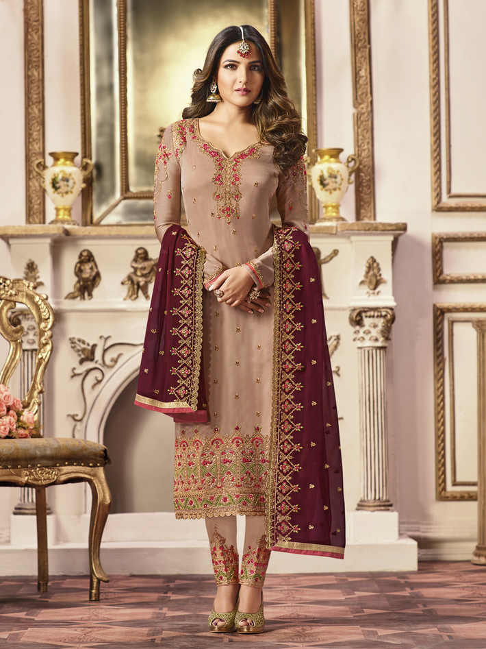 ZFSU1970-Beige-Churidar-Suits
