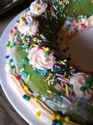 detail Pandan cake met slagroom