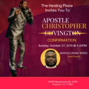 Apostle Christopher Covington Apostolic Confirmation Service
