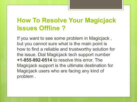 MagicJack Customer Service Number  -: +1(855) 892-0514 MagicJack Customer Care