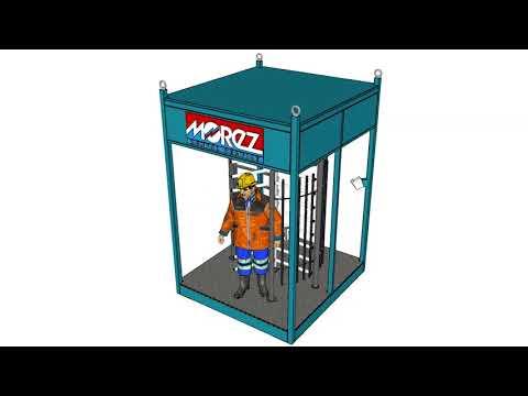 MOREZ GROUP a.s., turniketové kontajnery- kontrola vstupu osôb na stavbu