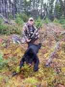Took a small Bear while moose hunting in Central