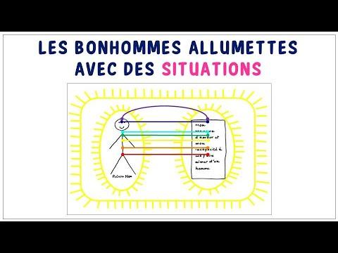 BONHOMMES ALLUMETTES AVEC DES SITUATIONS