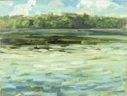 Tremeer oil painting: 'After the Storm' plein-air travel sketch painted on-site, Ontario