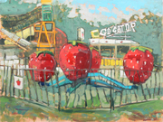 'Berry Go  Round' Midway fair on-site painting
