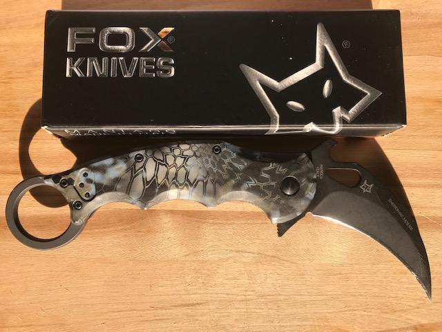 FOX 479 Neptune Kryptek G10 Scales
