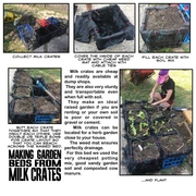 Making Garden Beds from Milk Crates