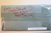 Mail art by Gerda Osteneck (Regina, Saskatchewan, Canada)