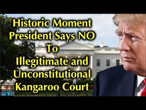 TRUMP SAYS NO To Kangaroo Impeachment Court In HISTORIC Presidential Document!