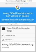 Record Label: Young Gifted Entertainment Is Now Verified On Google