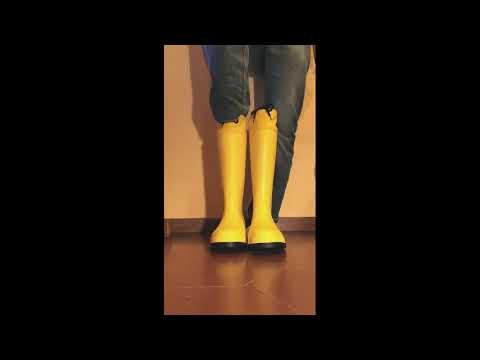 Bright colour boots