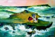 RAFALES EN IRLANDE Huilestoile 115x75 De Sylviane J.Tirez