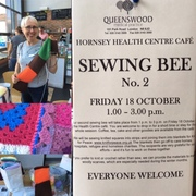 Sewing Bee at Hornsey Health Centre, Friday 18th October, 1-3pm