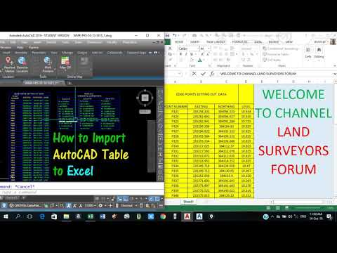 How to export autocad tables  into excel