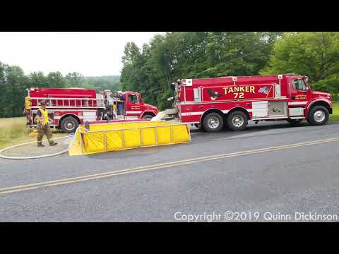 Brecknock Township, PA Fire Department Tanker Shuttle Training