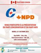 Présentation du parti conservateur du Canda et du parti NPD