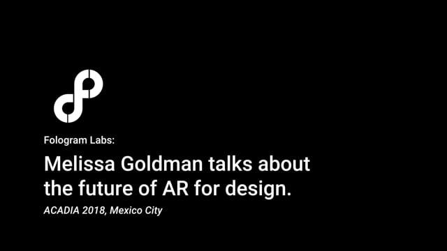 Fologram Talks: Melissa Goldman