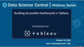 DSC Webinar Series: Building Accessible Dashboards in Tableau