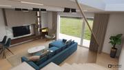 Taliansky elegantný interiér v zemitých farbách