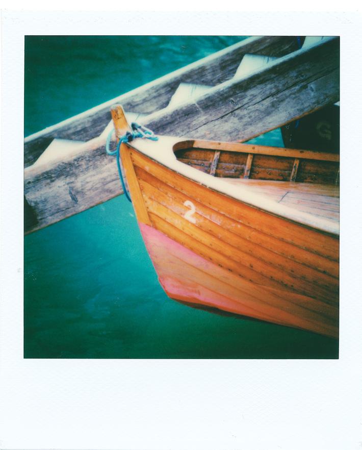 A boat on Braies Lake