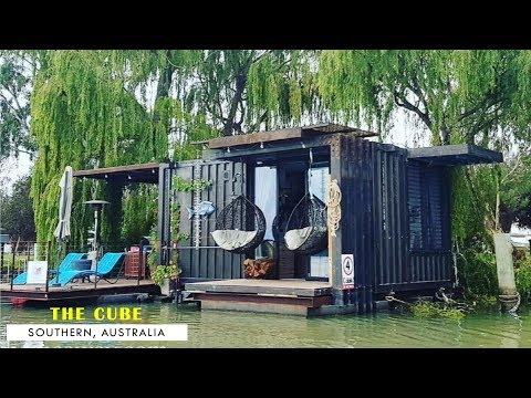 Shipping Container Houseboat- Murray River, South Australia
