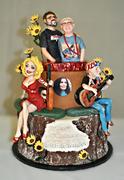 Country Music Birthday Cake