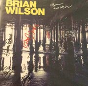 "Brian Wilson ""No Pier Pressure"" album. signed by Brian Wilson, Al Jardine, David Marks, Blondie Chaplin, and Jeff Foskett."