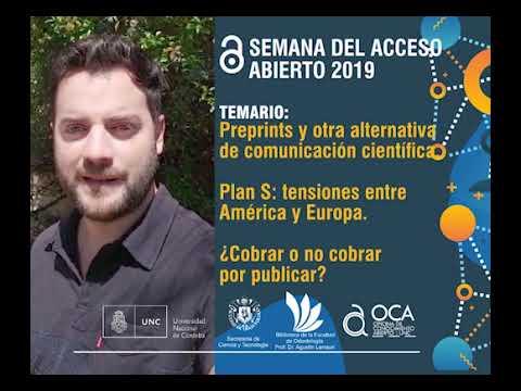 Semana del Acceso Abierto 2019 en la UNC: 23 de octubre 10 hs