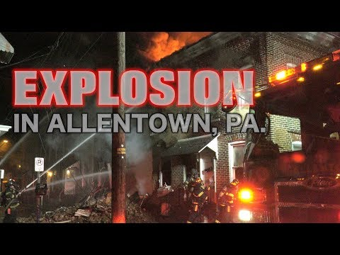 FIRE run the row in Allentown, PA.