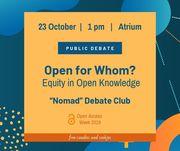 Open Access Week 2019 at Nazarbayev University: Public Debate