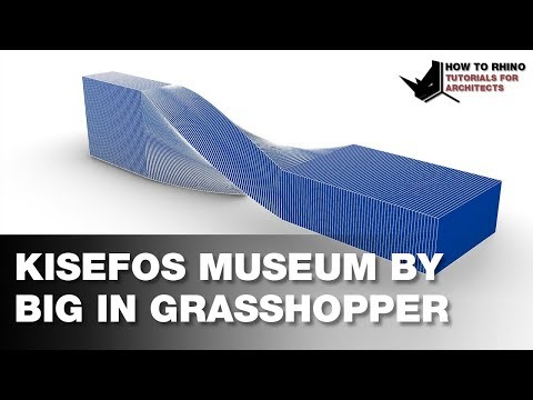 Modeling Kisefos Museum by BIG in Grasshopper