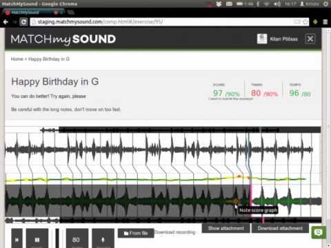 MatchMySound - A Feedback Hub For Music Teachers
