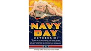 Vintage 1941 Navy Day Poster