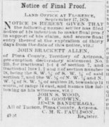 John Brackett Allen Arizona_Weekly_Citizen_Fri__Sep_19__1879_