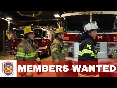 Berwyn Heights Volunteer Fire Department, PG County Maryland, Recruitment