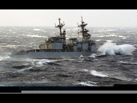 NAVY SHIP IN HEAVY WEATHER BEST VIDEO