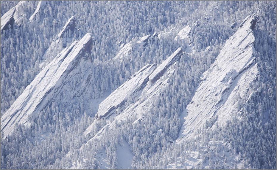Snowy Flatirons