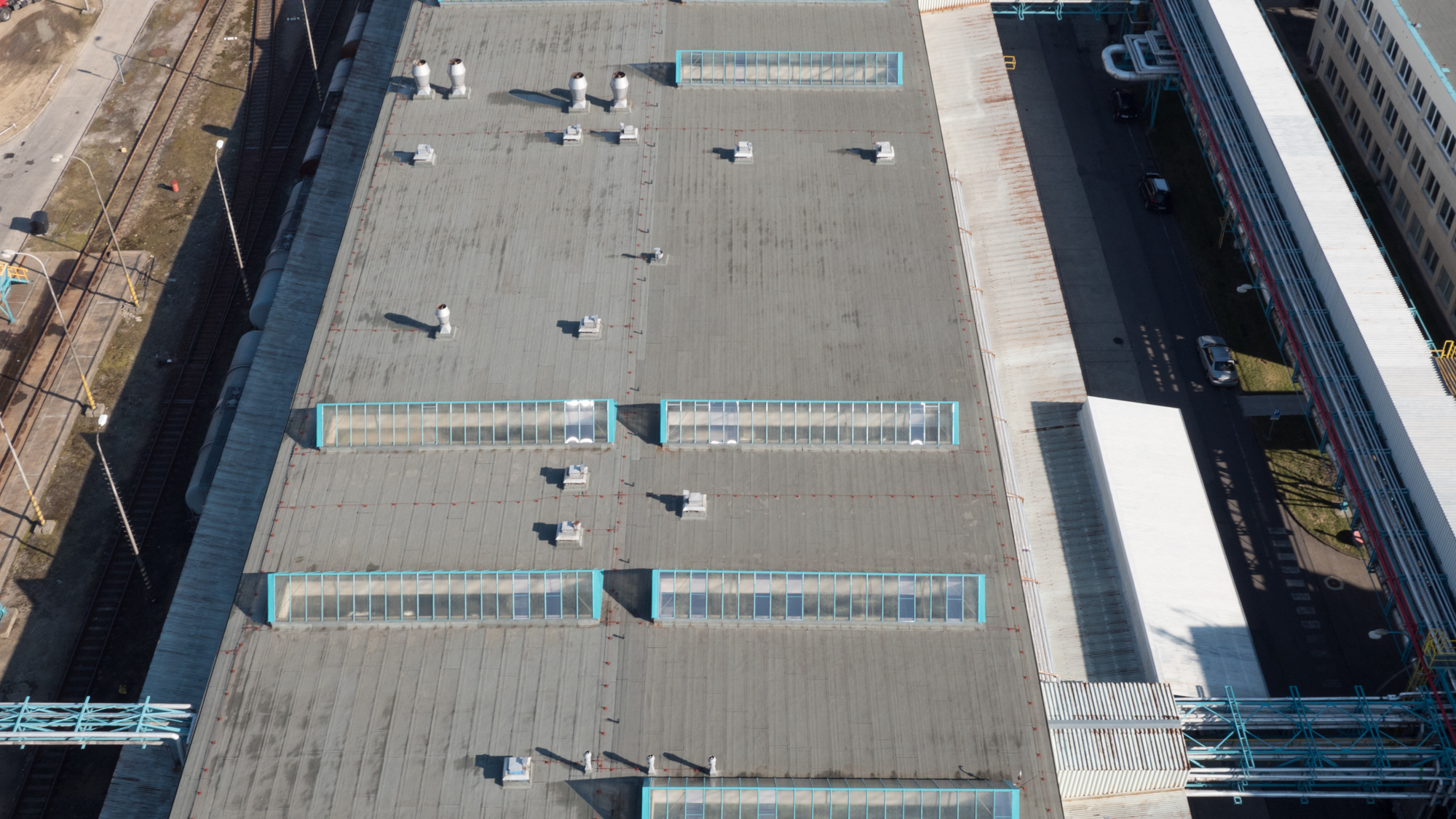 flat roof inspection with thermal imaging system