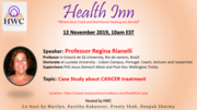 Dr Regina Rianelli speaks about Case Study about CANCER treatment.