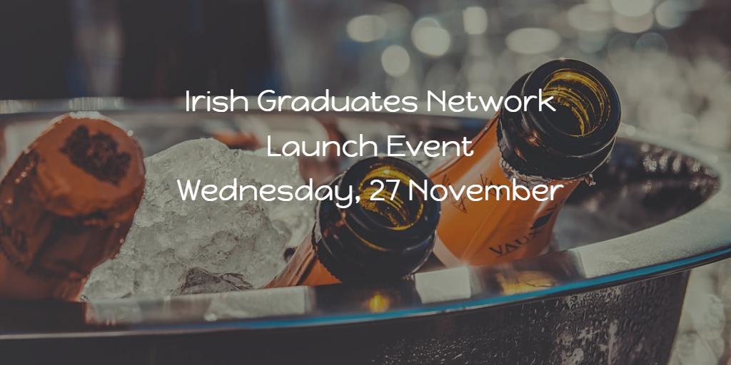 Irish Graduates Network Launch Event