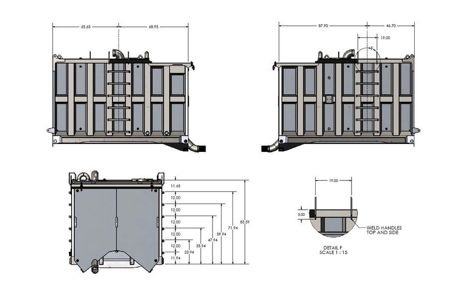 3D CAD Drawing 3D of Automated Water Blast Tank