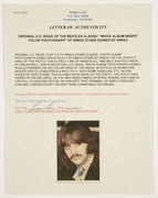 """''Sell:"""" Ringo Starr COA From Perry Cox"""