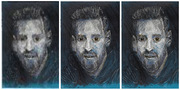 Lionel Messi traditional sketch