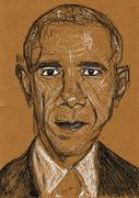 Barack Obama traditional sketch