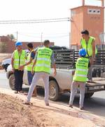 Mohamed Dekkak, President of Anouar Association visits and helps the volunteers on the ongoing Roundabout Beautification and Landscaping project in Ait Faska. #AnouarAssociation #Anouar #Associationan